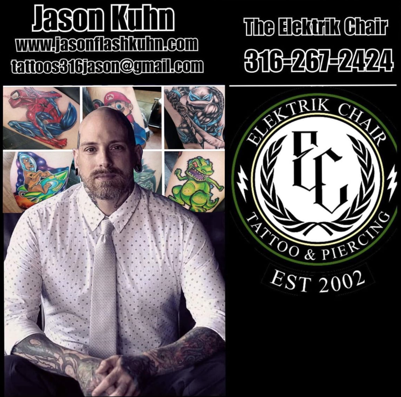 Meet Jason Flash Kuhn - Quality Tattoo Artist in Wichita, KS